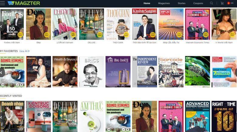 Thông tin Khuyến mãi, giảm giá gói Magzter Gold với hơn 9000 tạp chí với các tạp chí nổi tiếng ở Việt Nam