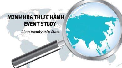 Sử dụng câu lệnh estudy để thực hiện event study trên Stata