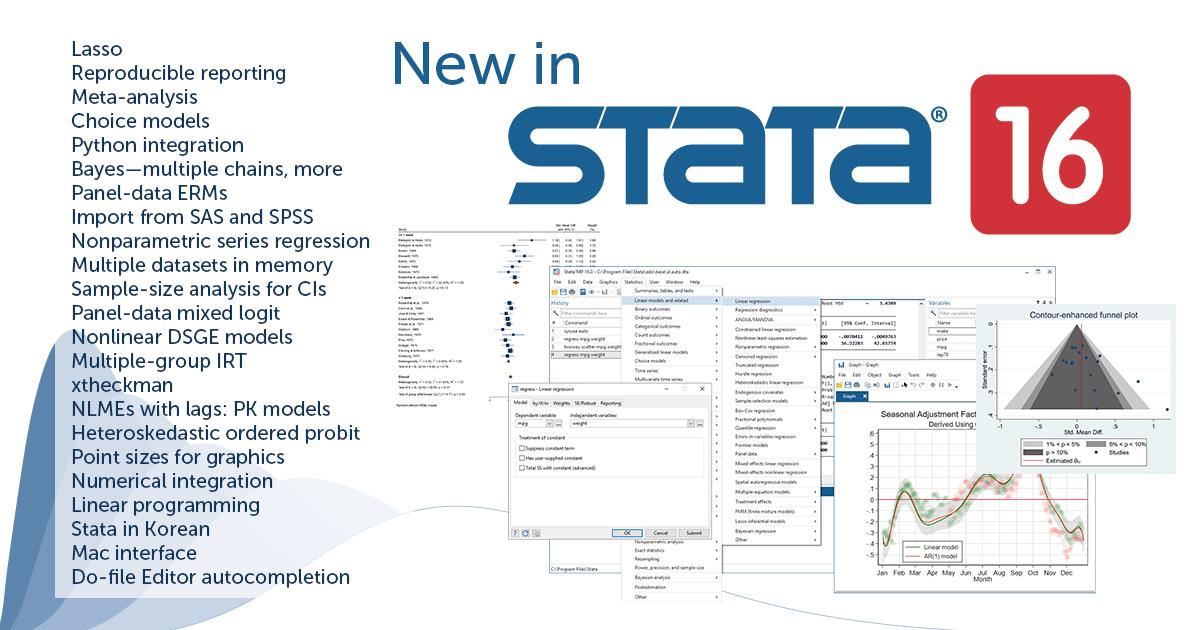 Tính năng mới Stata 16