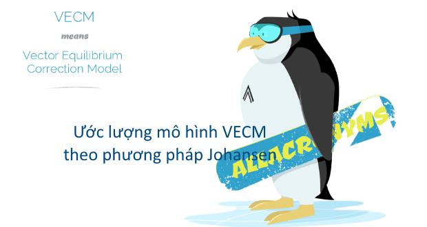 Mô hình VECM sử dụng thay thế vector tự hồi quy (VAR) khi các biến có mối quan hệ đồng kết hợp bằng cách dùng phương pháp hợp lý cực đại của Johansen (1995)