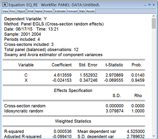 Thực hành ước lượng dữ liệu bảng trên Eviews